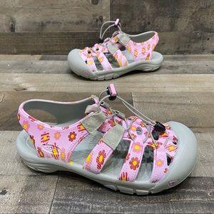 Keen Pink Floral Kids Girls Rubber Water Sandals 5